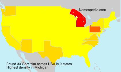 Familiennamen Goretzka - USA