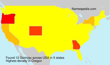 Surname Gorinjac in USA