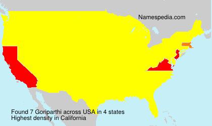 Familiennamen Goriparthi - USA