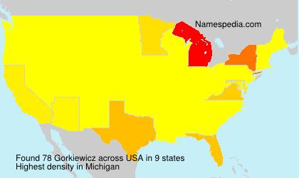 Familiennamen Gorkiewicz - USA