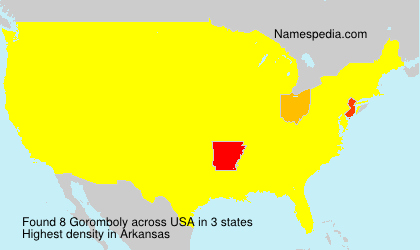 Surname Goromboly in USA