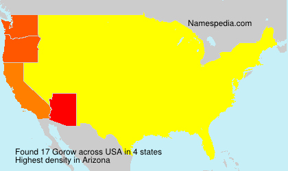 Surname Gorow in USA