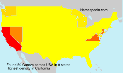 Surname Goroza in USA