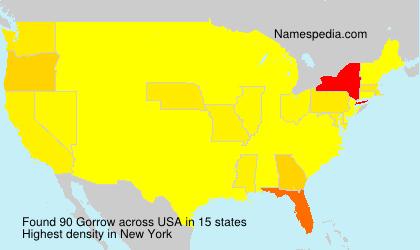 Familiennamen Gorrow - USA