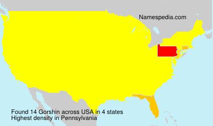 Familiennamen Gorshin - USA