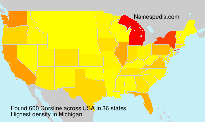 Surname Gorsline in USA