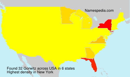 Surname Gorwitz in USA