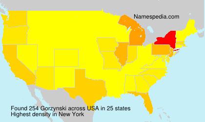 Surname Gorzynski in USA