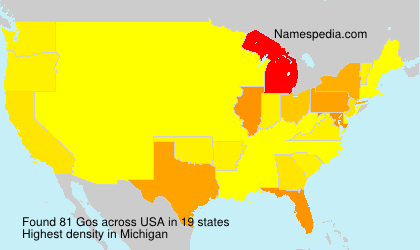 Surname Gos in USA