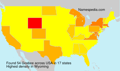 Surname Gosbee in USA