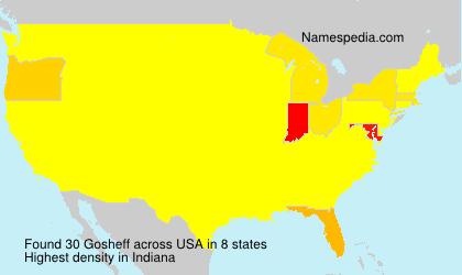 Surname Gosheff in USA