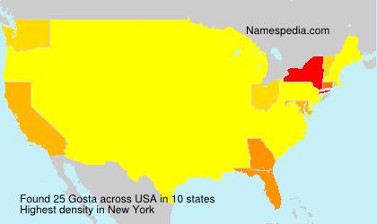 Surname Gosta in USA
