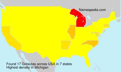 Surname Gotautas in USA