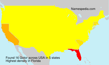 Surname Gotor in USA