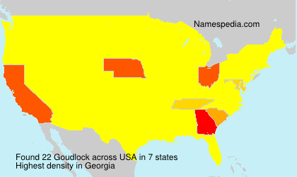 Familiennamen Goudlock - USA