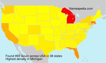 Familiennamen Gouin - USA