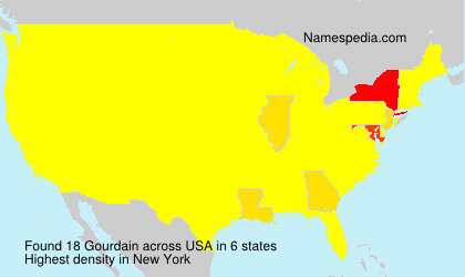 Surname Gourdain in USA