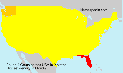 Surname Gouts in USA