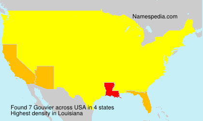 Surname Gouvier in USA