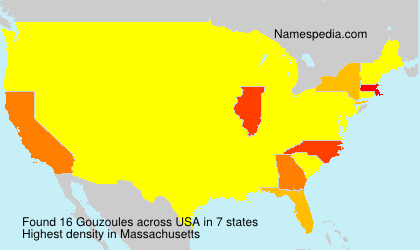 Surname Gouzoules in USA