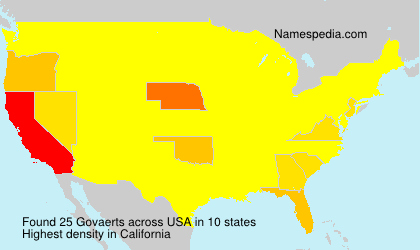 Surname Govaerts in USA