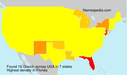 Familiennamen Govich - USA