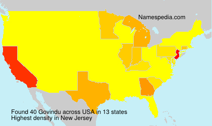 Surname Govindu in USA