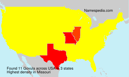 Surname Govula in USA
