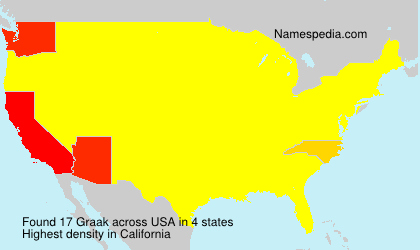 Surname Graak in USA