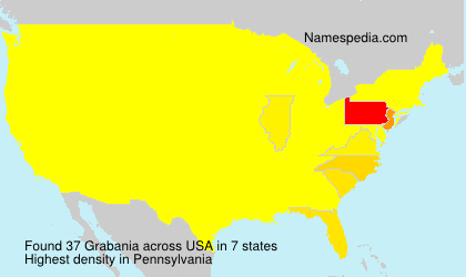 Surname Grabania in USA