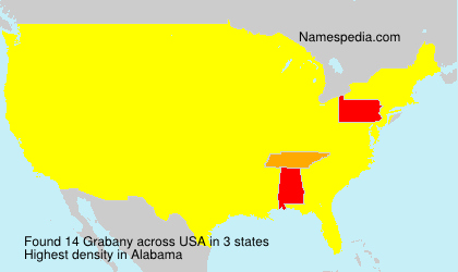 Surname Grabany in USA