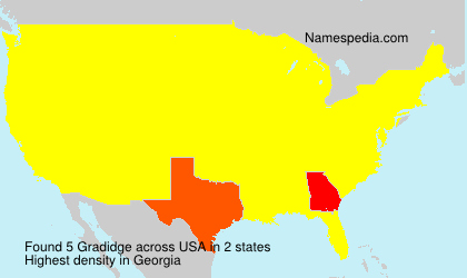 Surname Gradidge in USA