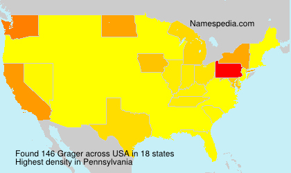 Surname Grager in USA