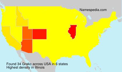 Surname Grako in USA