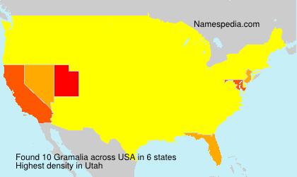 Familiennamen Gramalia - USA