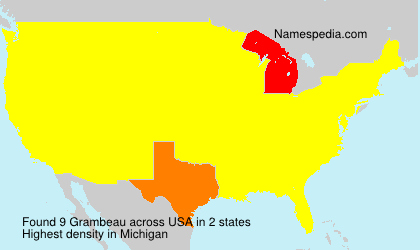 Surname Grambeau in USA