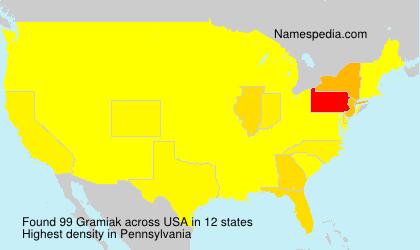 Familiennamen Gramiak - USA