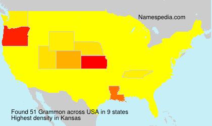 Surname Grammon in USA