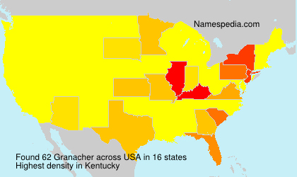 Familiennamen Granacher - USA
