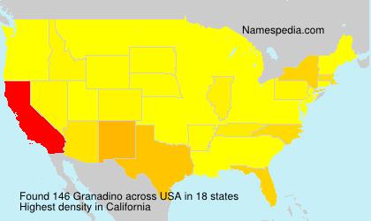 Surname Granadino in USA