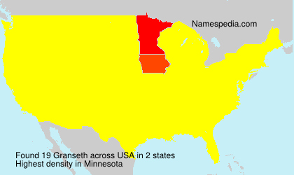 Surname Granseth in USA