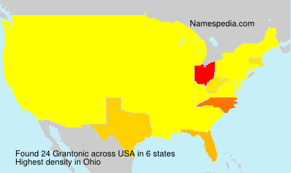Surname Grantonic in USA