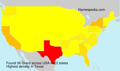 Surname Grard in USA
