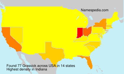 Surname Grassick in USA