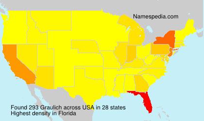 Surname Graulich in USA