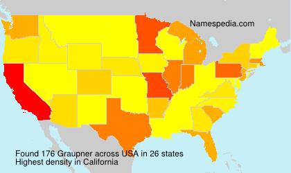 Familiennamen Graupner - USA