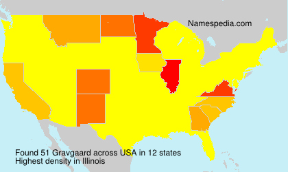 Surname Gravgaard in USA