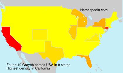Familiennamen Grayeb - USA