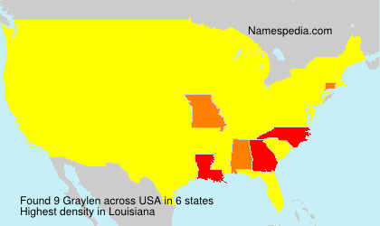 Surname Graylen in USA