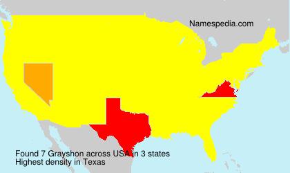 Surname Grayshon in USA